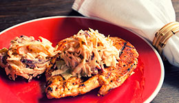 Chicken With Buffalo Ranch Coleslaw