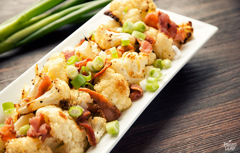 Roasted Cauliflower with Bacon