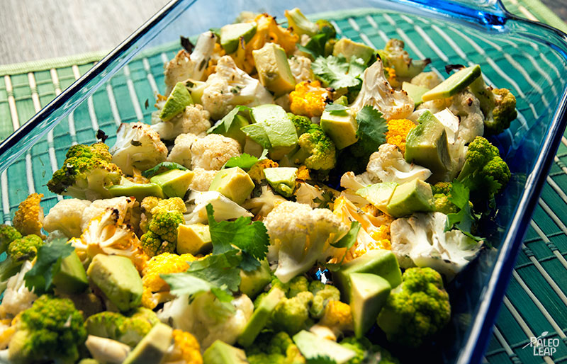 Cauliflower lime and cilantro