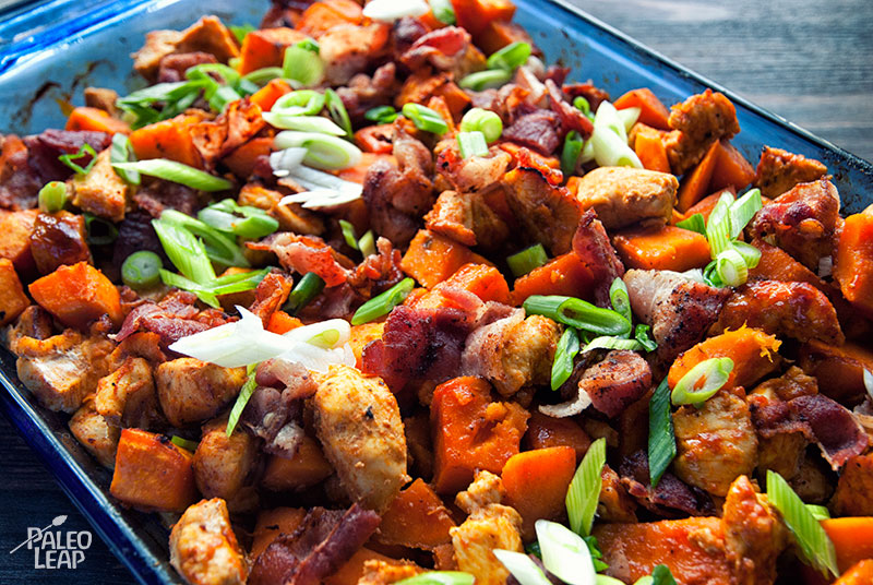 Sweet Potato Buffalo Chicken Casserole