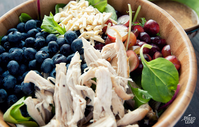 Chicken Salad With Almonds Recipe — Dishmaps