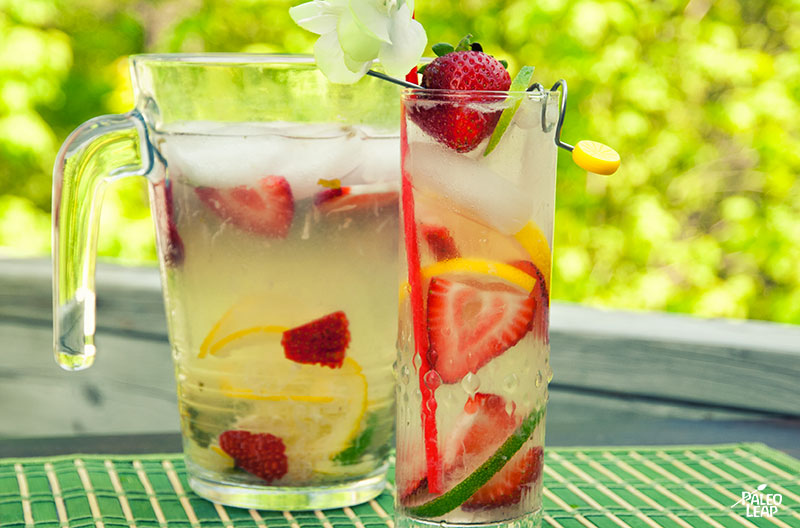 Coconut strawberry lemonade