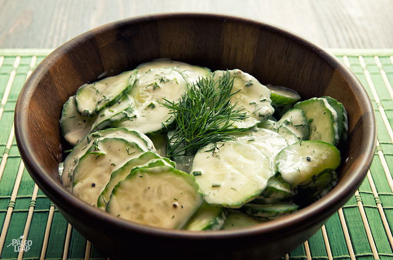 Creamy Dilled Cucumber Salad Recipe — Dishmaps