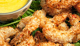 Crispy Coconut Shrimp With Mango Sauce