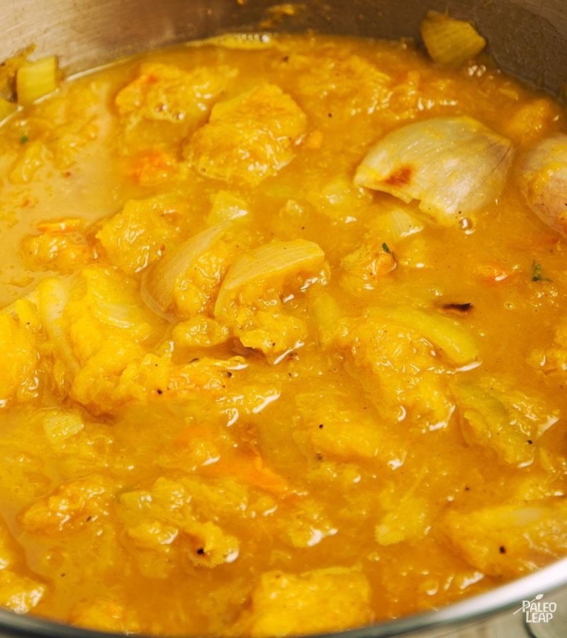 Acorn squash soup preparation