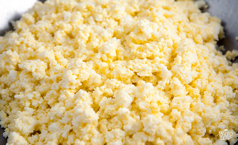 Egg Salad Dip preparation