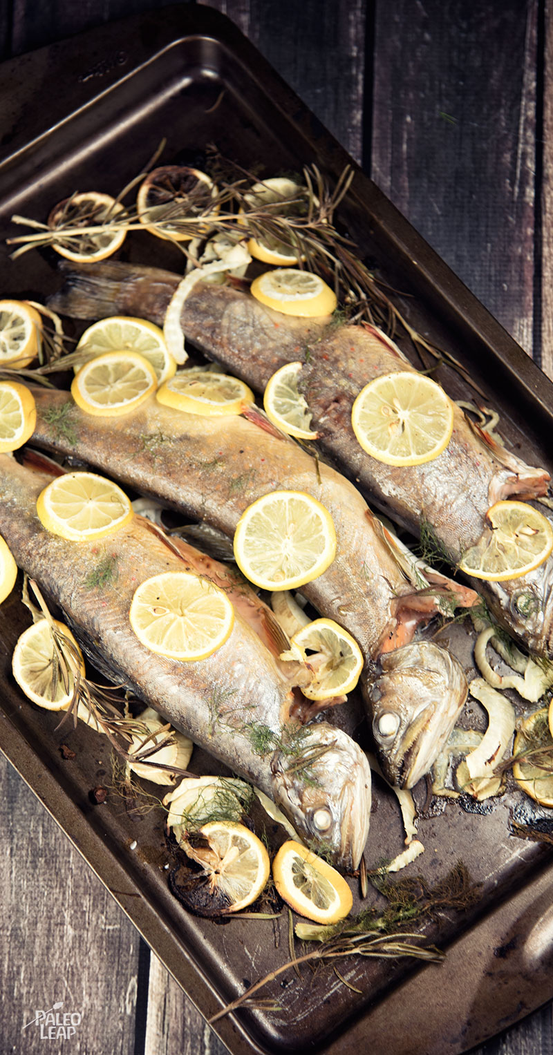... grilled whole trout stuffed roasted trout preparation roast ocean