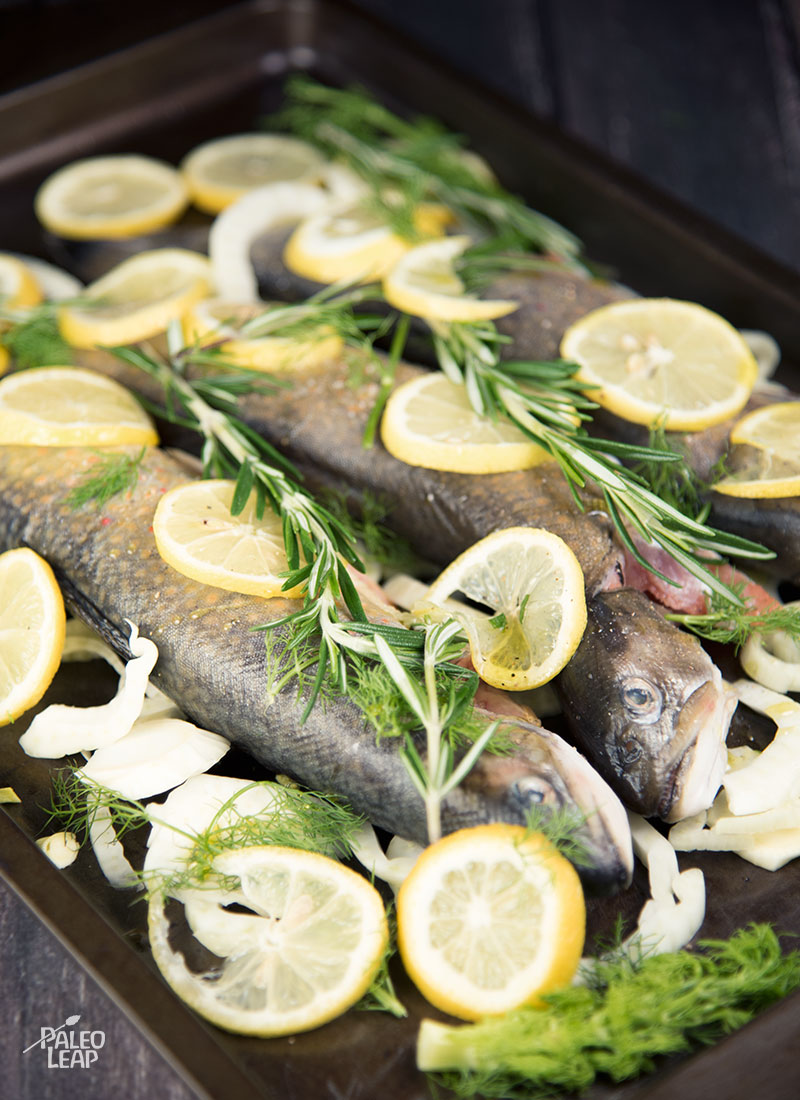 Roasted trout preparation