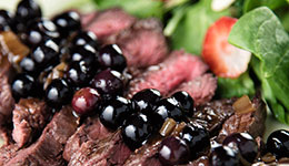 Flank Steak With Blueberry Sauce