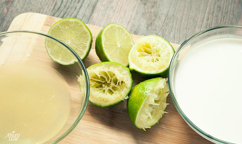 Frozen Coconut Limeade preparation