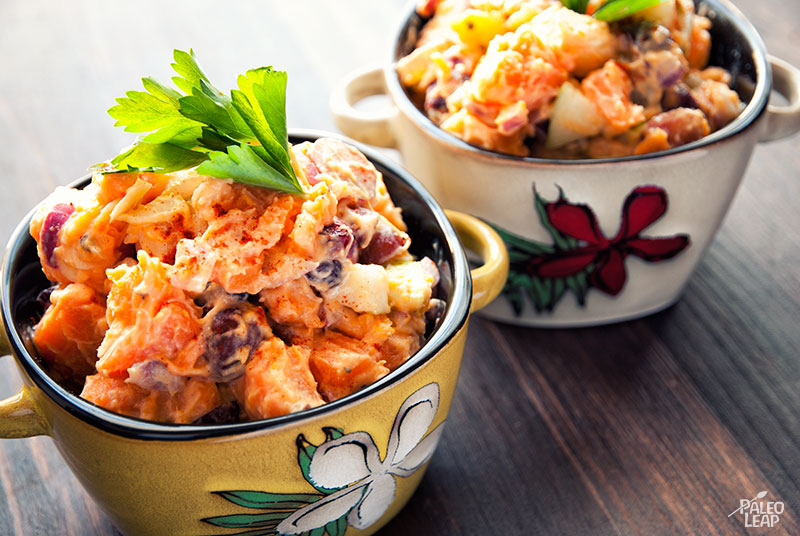 Fruity sweet potato salad