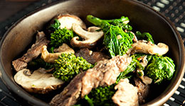 Ginger, Beef, and Mushroom Stir-fry