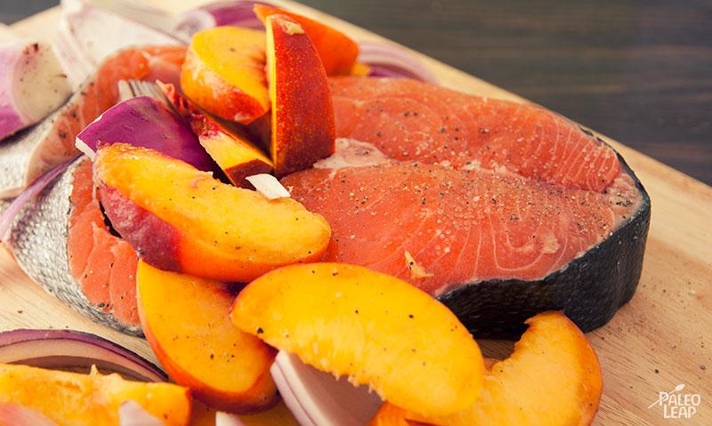 Salmon With Peaches preparation