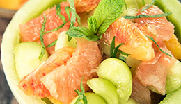Grapefruit, Melon, And Orange Salad