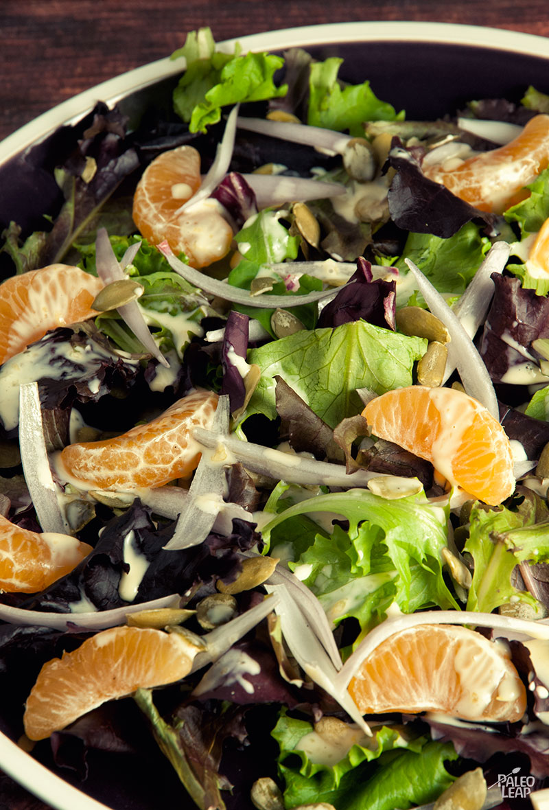 Green Salad With Clementine Dressing