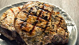 Grilled Pork With Basil Rub