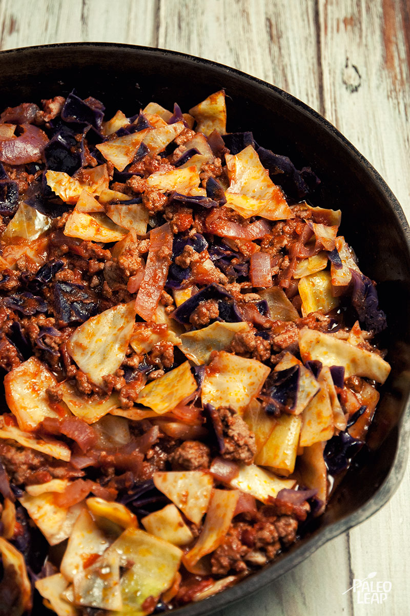 Ground Beef And Cabbage Skillet | Paleo Leap