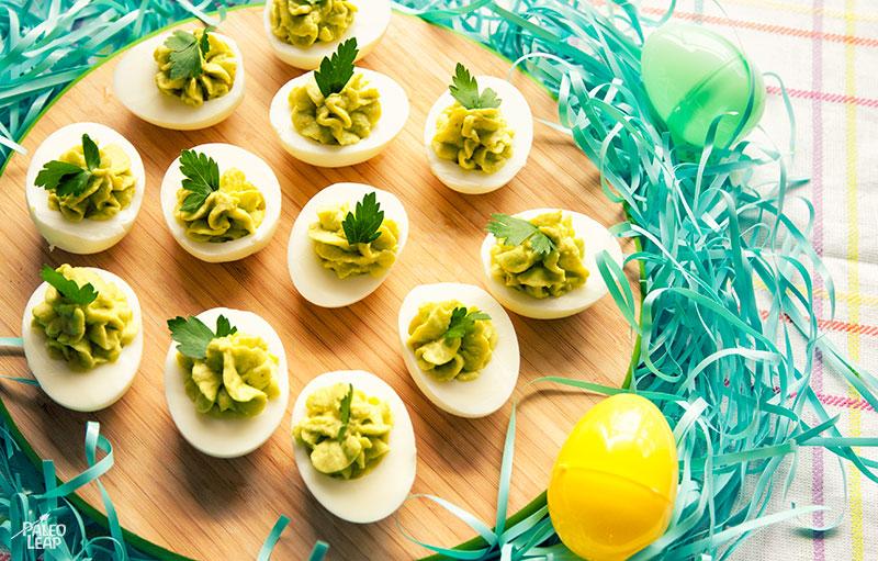 Stuffed Egg preparation