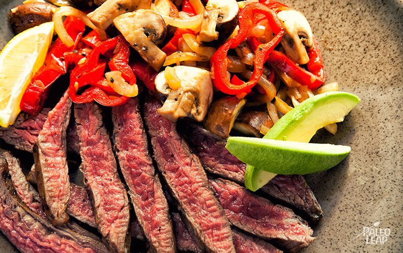 Mexican Steak with Mushrooms and Peppers