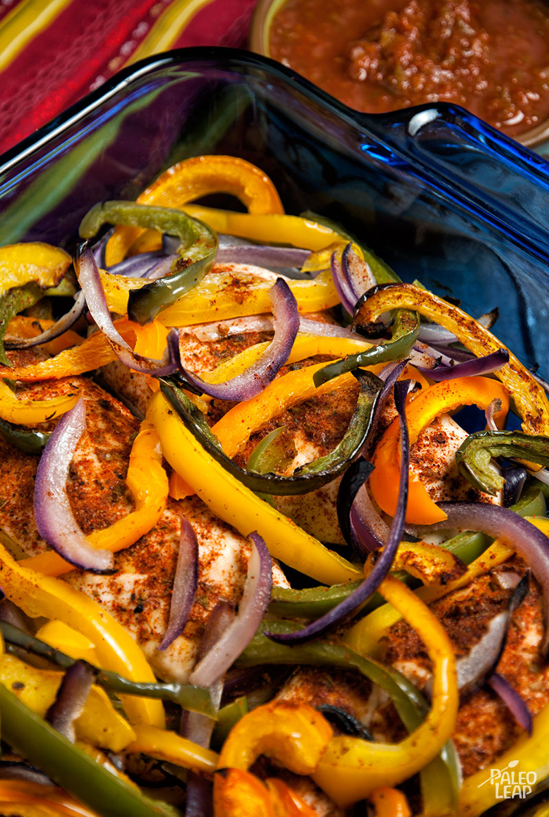Oven Chicken Fajita Bake