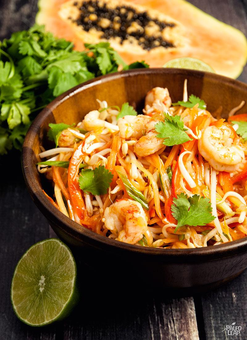 Crunchy Papaya Salad With Shrimp