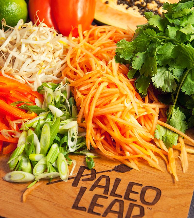 Papaya salad preparation