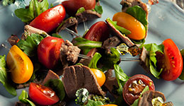 Pesto and Tomato Duck Skewers