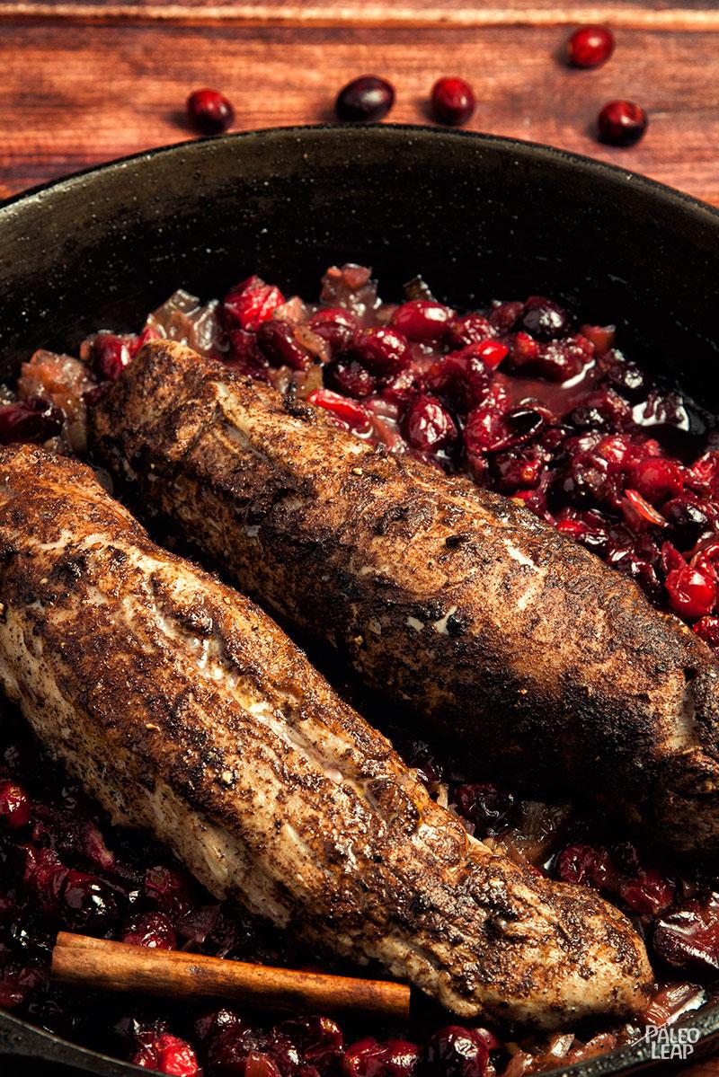 Pork Tenderloin With Cranberries | Paleo Leap