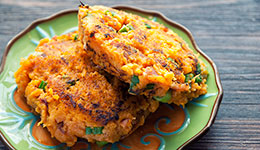 Sweet Potato Bacon Cakes