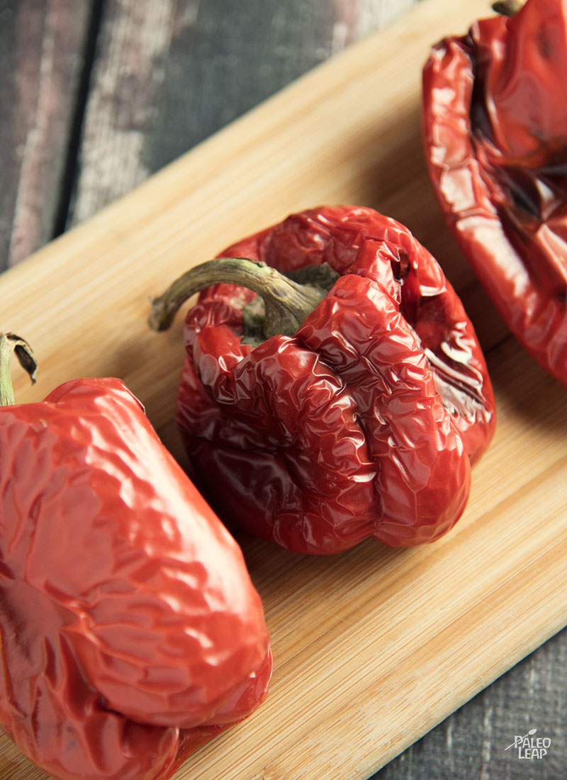 Roasted Red Pepper Chicken preparation