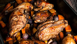Red Wine Roast Chicken