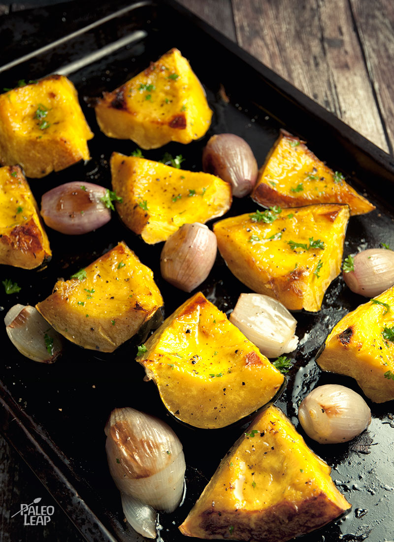 Roasted Acorn Squash And Shallots | Paleo Leap
