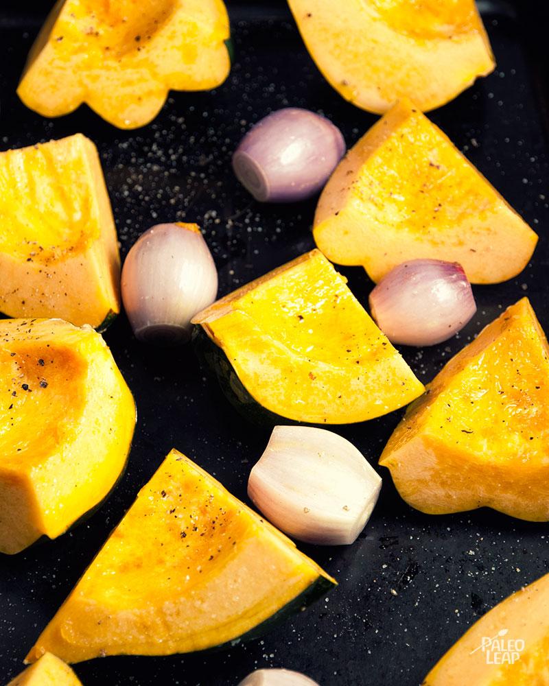 Roasted acorn squash preparation