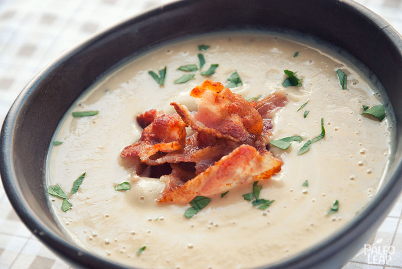 Roasted Cauliflower Soup | Paleo Leap