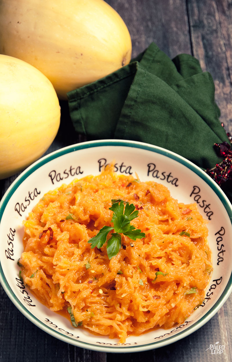 Roasted Red Pepper Pasta | Living Paleo