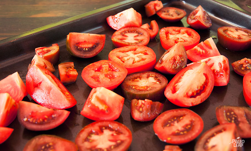 Oven Roasted Tomatoes preparation