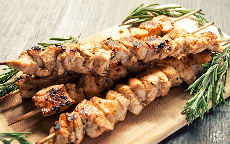 Rosemary Ranch Chicken Kabobs | Paleo Leap