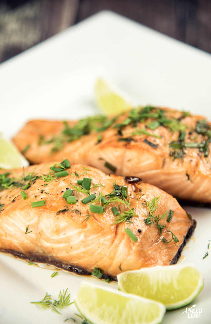 Maple Salmon With chive and Dill