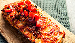 Salmon with Tomato Pesto
