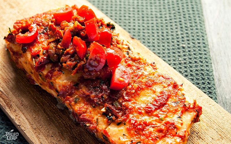 Salmon with Tomato Pesto