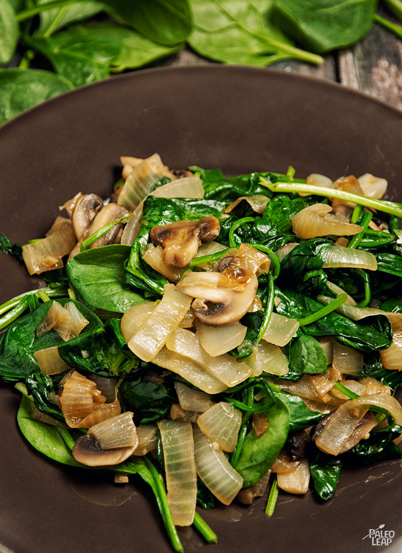 Sautéed Spinach, and caramelized onions