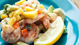 Shrimp With Avocado And Mango