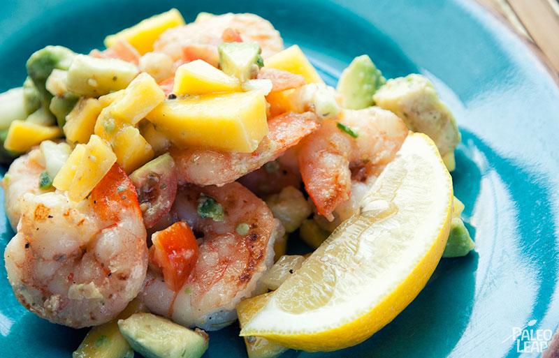 Shrimp With Avocado And Mango