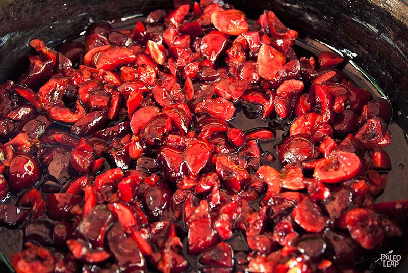 Cherry Jam preparation