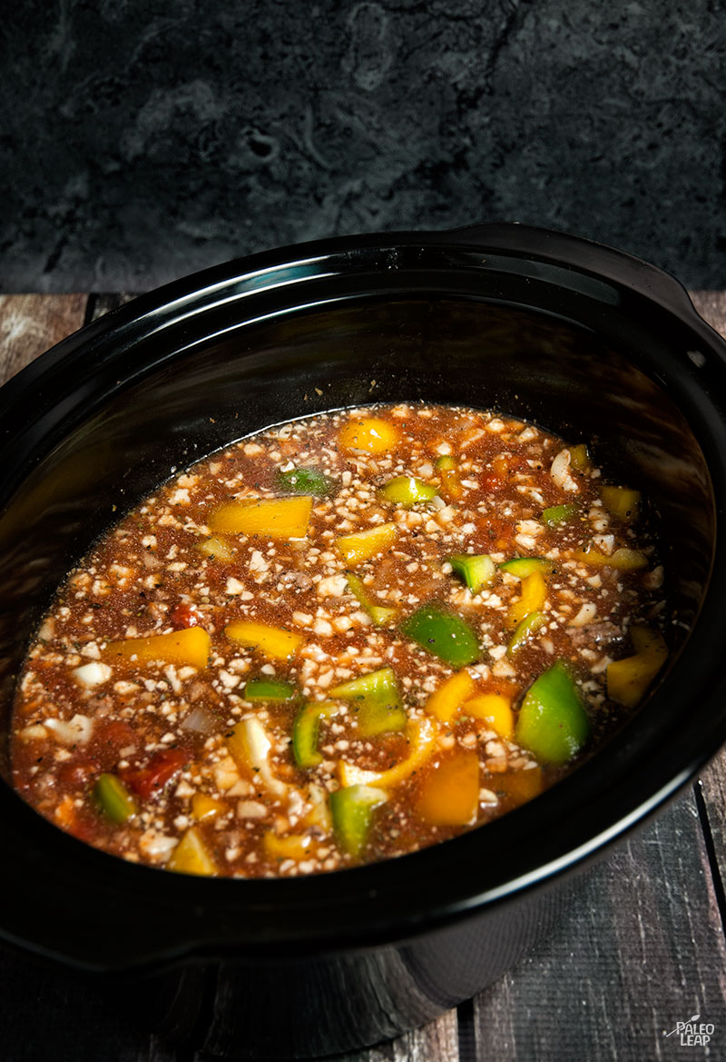 Slow Cooker Beef And Pepper Soup | Paleo Leap