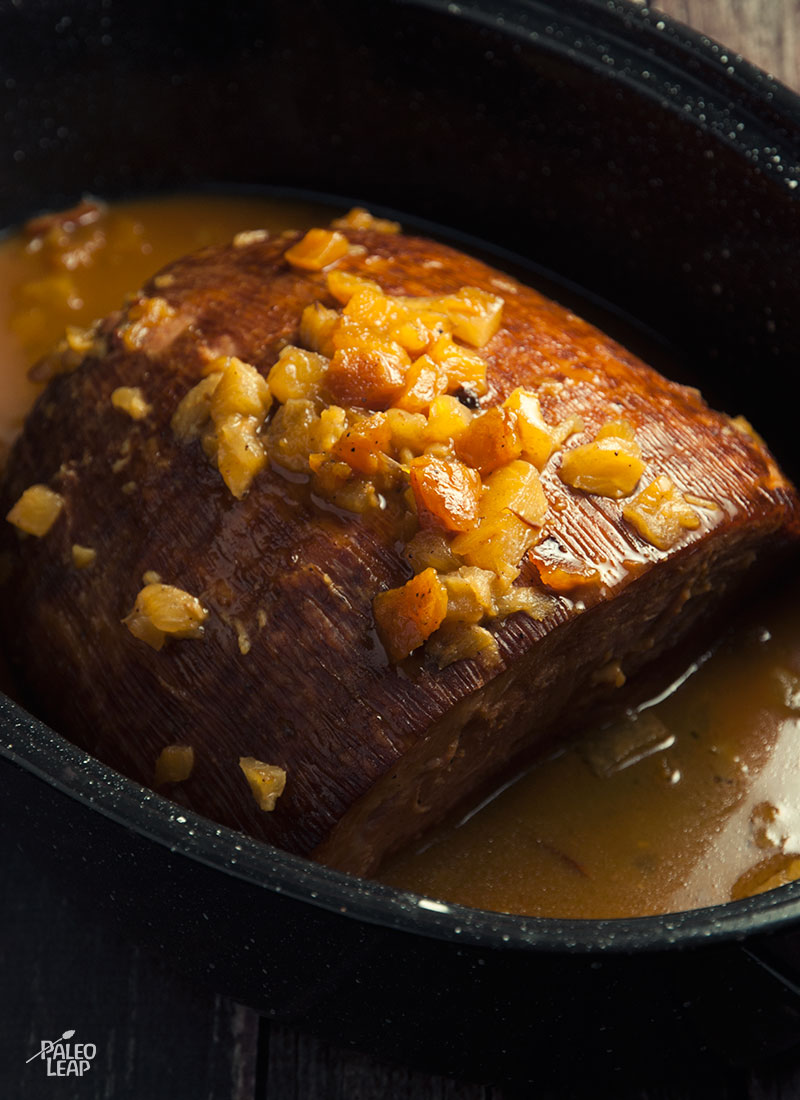 Slow cooker ham preparation