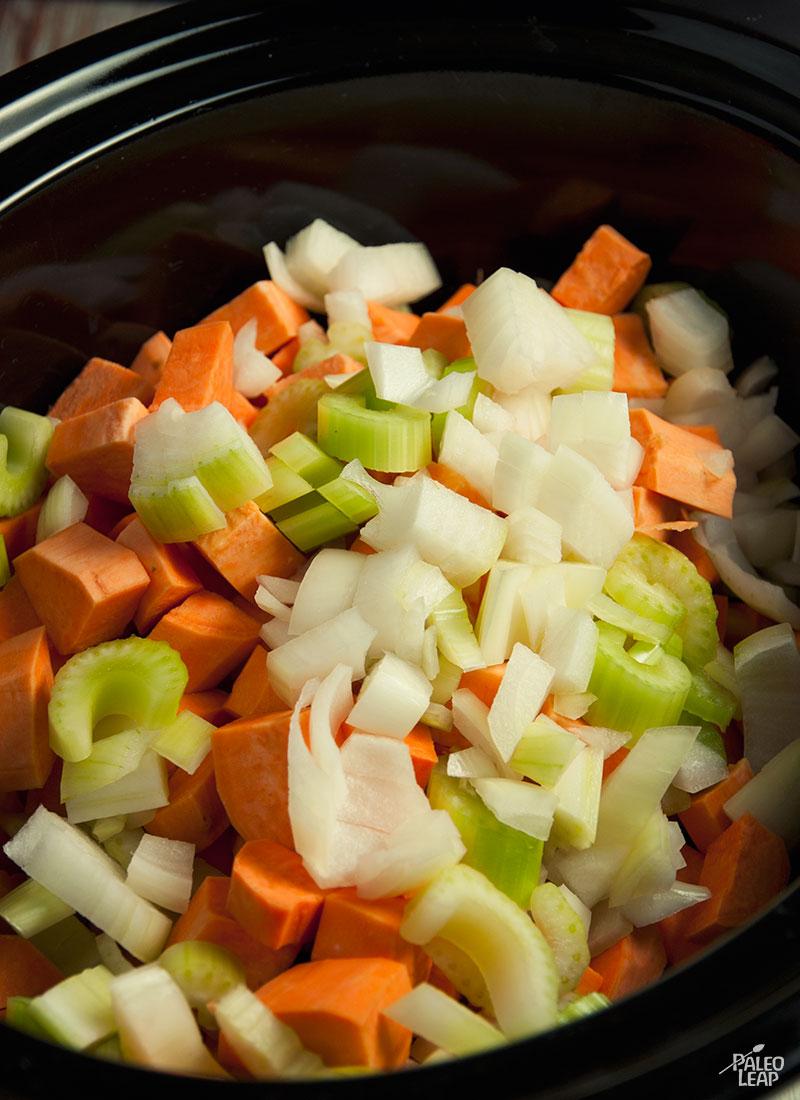 Sweet potato soup preparation