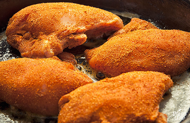 Spice Rubbed Chicken preparation