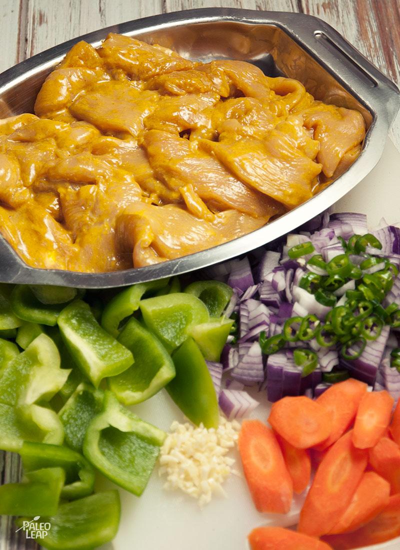 Spicy Indian Chicken Stir-Fry Paleo Leap