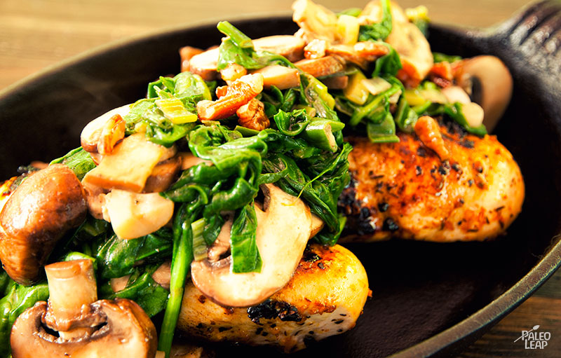 Spinach And Mushroom Chicken Paleo Leap